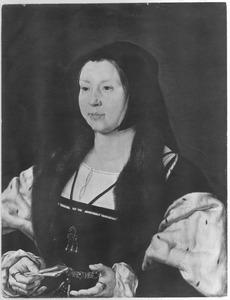 Portret van Anna van Bergen, echtgenote van Adolf van Bourgondië