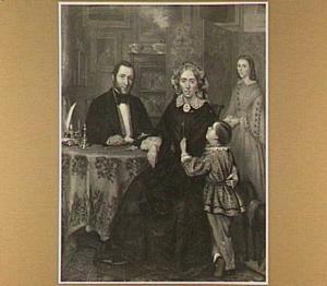 Portret van de familie Oldenhuis Gratama, kort na 1860