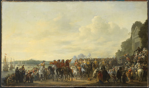 Het halthouden van Karel II bij de buitenplaats Wena aan de Rotte tijdens zijn tocht van Rotterdam naar Den Haag op 25 mei 1660