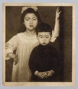 Portret van de kinderen van Dr. Yap Hong Tjoen
