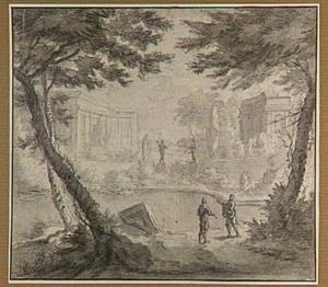 Parklandschap met vijver
