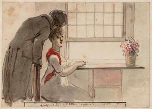 '4 july 27 week. Madame Fokke, dessinant d'apres Nature'