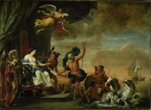 Neptunus treedt in dienst van de Amsterdamse Admiraliteit: allegorie op de Amsterdamse Admiraliteit