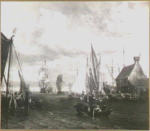 De haven van Zaandam