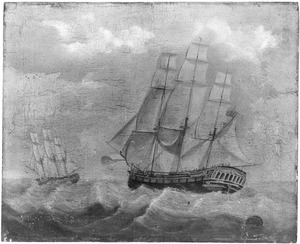 Het fregat 'Zeelust'