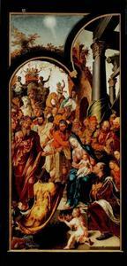 De aanbidding van de Wijzen (Drapeniersaltaar)