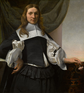 Portret van een jongeman met een anjer