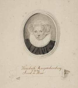 Portret van Elisabeth Ruysschenberg (1551-1635)