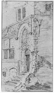 Ingang van een gothisch huis