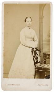 Portret van een vrouw, mogelijk Geertruida Anthonia Romswinckel (1835-1908)