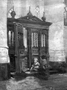 Koorhek in de Martinikerk te Groningen