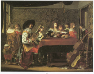 Musicerend elegant gezelschap