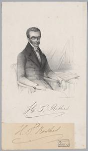 Portret van Hendricus Theodorus Roskes (1798-1845)
