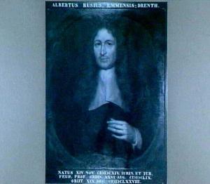 Portret van Albertus Rusius (1614-1678), hoogleraar Instituten, Pandecten en Leenrecht in Leiden, 1659-1678