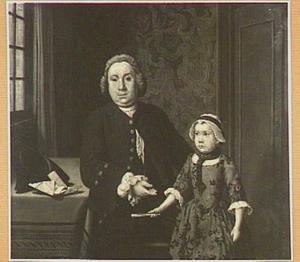 Portret van een man met zijn dochter