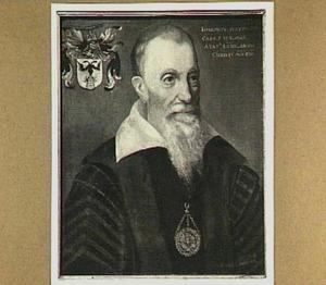 Portret van Josephus Justus Scaliger (1540-1609). Honorair Hoogleraar Latijnse Spraak, Oudheden en Historie