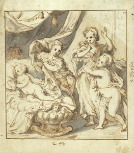 Karl XII (1682-1718) met broers en zus
