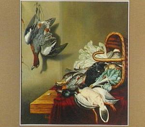 Stilleven met dood gevogelte en artisjok
