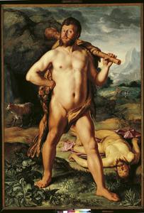 Hercules en Cacus, portrait historié van Johan Colterman (1591-1649)
