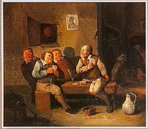 Kaartspelende boeren in een herberg