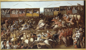 Tournooi bij Toledo in aanwezigheid van Karel V en Isabella van Portugal