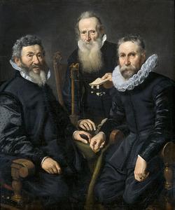 Groepsportret van een onbekend college, 1619