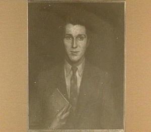 Portret van de zoon van de schilder, J.H. van Borssum Buisman, beeldhouwer en conservator van het Teylers Museum, Haarlem
