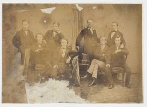 Groepsportret met Oncko Wicher Star Numan (1840-1899)