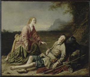 Pastorale scène (Granida en Daifilo?, wel uit P.C. Hooft, Granida, 1615)