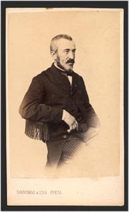 Portret van de schilder Johannes Bosboom (1817-1891)