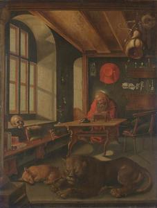 De heilige Hieronymus in zijn studeervertrek