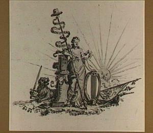 Allegorie op de Dordrechtse schutterij