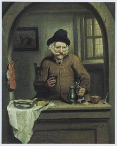 Portret van Jan Gerritz. Kuijper (1648-1749), alias Jan Practiseer