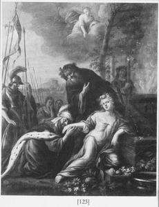 Iphigenia wordt door Diana van de brandstapel gered