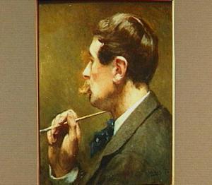 Portret van de schilder Willem de Famars Testas