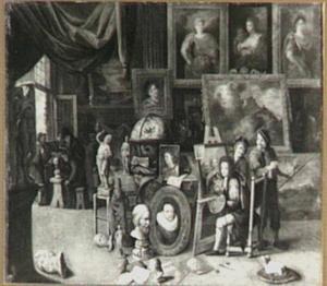 Bezoek aan het atelier van de schilder