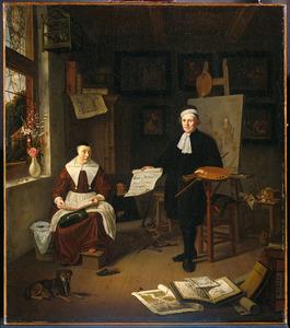 Dubbelportret van Michiel Comans (ca. 1614-1687) en zijn derde echtgenote Elisabeth van der Meersch