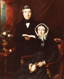 Dubbelportret van Karel Willem de Jonge (1789-1852) en Henriëtte van Breugel (1790-1865)