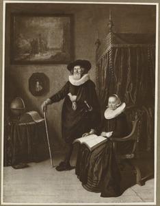 Dubbelportret van een ouder echtpaar