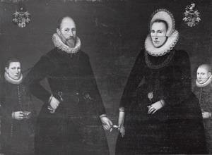 Portret van Gerlich Doys (1561-1625), Herberta Splythoff (1561-1626) en twee zoons