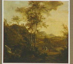 Zuidelijk landschap met twee ruiters