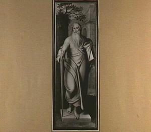 De H. Paulus (Triptiek van Pieter Damant) (op de binnenzijde: Petrus Damant, derde bisschop van Gent)