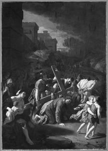 De kruisdraging van Christus met de val