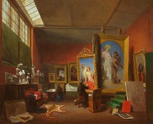 Ary Scheffer's grote atelier op de Rue Chaptal 16 te Parijs