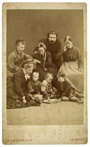 Portret van familie De Lavieter