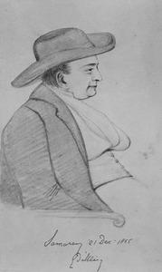 Portret van Willem Frederik George Lodewijk d' Ablaing van Giessenburg (1816-1877)