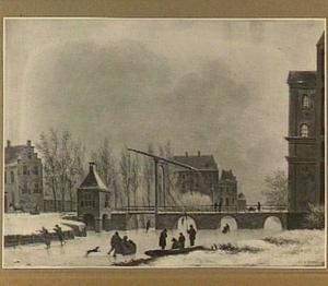 Gezicht op de Wittevrouwensingel te Utrecht met de Wittevrouwenbrug, de Wittevrouwenpoort en het Suikerhuis