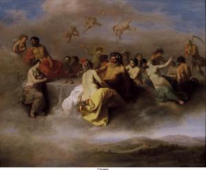 Godenbijeenkomst op de wolken