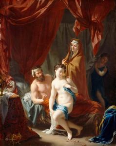 Sarai [Sara]  voert Hagar tot Abram [Abraham] (Genesis 16:3-4)