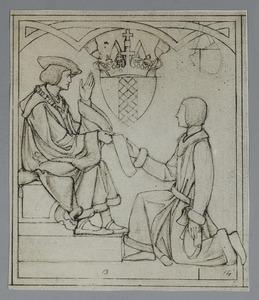 Keizer Maximiliaan schenkt Amsterdam het recht om de keizerskroon boven het stadswapen te dragen
